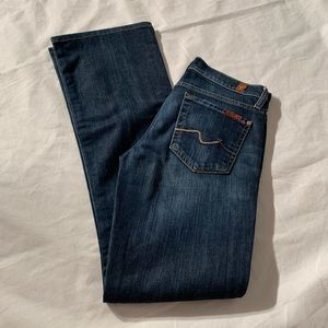 """7 For All Mankind Size 25 Bootcut Jeans Inseam 31"""""""